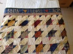 Smoky Mountain Stars made by Lori for her Dad.  Free pattern found here: http://quiltville.blogspot.com/p/free-patterns.html