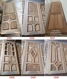 Wooden Front Door Design, Wooden Front Doors, Wood Design, 3 Storey House Design, Modern Wooden Doors, Decoration, 2d, Home, Doors