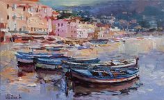 Buy Villefranche Harbor, French Riviera - France Landscape painting, Oil painting by Anastasiya Valiulina on Artfinder. Discover thousands of other original paintings, prints, sculptures and photography from independent artists.