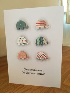 3D Elephant Card by HandmadebySophieEtsy on Etsy