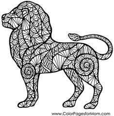 animal coloring page #lion #adultcoloring #animalcoloringpages #colorpage