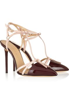 Charlotte-Olympia/Trixy-patent-leather-T-bar-pumps
