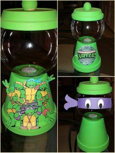 Ninja turtle gumball machine centerpiece