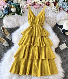Frock For Women, Summer Dresses For Women, Dress Summer, Chic Outfits, Dress Outfits, Fashion Outfits, Nice Dresses, Casual Dresses, Short Dresses