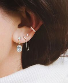 >>>Cheap Sale OFF! >>>Visit>> There simply isnt enough space on my ear for all the jewelry at So all I really want for Christmas is another piercing. Ear Jewelry, Body Jewelry, Jewelry Accessories, Fine Jewelry, Jewelry Ideas, Jewelry Making, Jewlery, Necklace Ideas, Jewelry Tree