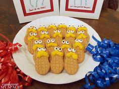 Dr. Seuss baby shower: Lorax Nutter Butters