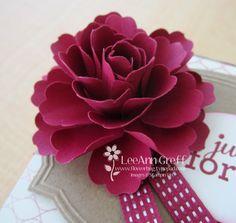 Tutorial for Blossom Punch flower by LeeAnn Greff