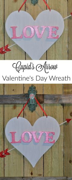 This easy and cute Valentine's Day Decor is perfect to hang on the front door or even throughout your house. www.momswithoutanswers.com