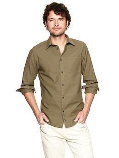 Garment-dyed oxford shirt (original fit) | Gap