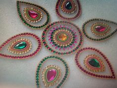 Beautiful 6 piece acrylic rangolis... can be used for home decor on a glass table or on the floor. It is not a sticker but it stays on the ground.  You can tape it on the door as well. Selling price  $25 each.. plus shipping Ethnic Home Decor, Glass Table, Tape, Bling, Sticker, Flooring, Decoration, Gifts, Beautiful