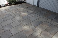 Concrete Patio Overlay with Pavers – Elizabethtown, PA Tree Care, Concrete Patio, Lawn Care, Pest Control, Home Projects, Overlays, Tile Floor, Landscape, Outdoor Decor