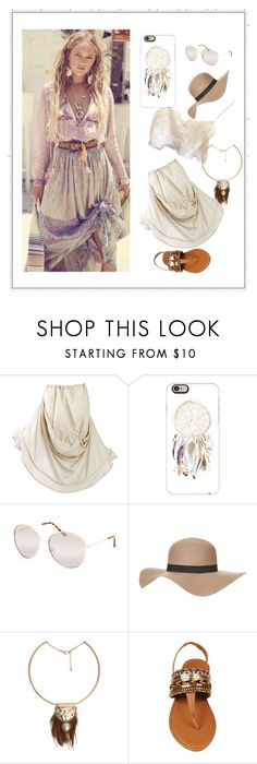 """Vacation Boho"" by dorataya ❤ liked on Polyvore featuring Spell & the Gypsy Collective, Casetify, Full Tilt, Topshop and MANGO"