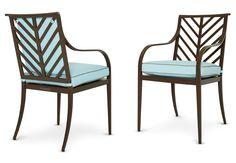 McKinnon Harris | Buie Dining Arm Chair with Herringbone Back