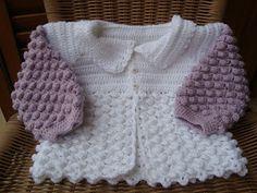 Moda Bebê : Casaquinho - Crochê