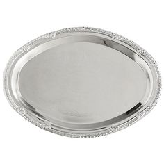 Nickel-plated oval trays are great for serving hors d'oeuvres and desserts! Catering Trays, Medieval Party, Wedding Details, Wedding Ideas, Wedding Stuff, Dollar Stores, Serving Trays, Plating, Dorm Life