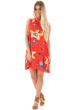 Lime Lush Boutique - Vermilion Floral Print Mock Neck Dress, $49.99 (https://www.limelush.com/vermilion-floral-print-mock-neck-dress/)#fashion#spring#happy#photooftheday#followme#follow#cute#tagforlikes#beautiful#girl#like#selfie#picoftheday#summer#fun#smile#friends#like4like#pinterestfollowers
