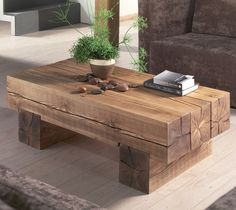 Natural Refurbished Coffee Table | The Best Wood Furniture
