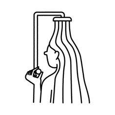 Shower Girl / illsutration Michal Loba