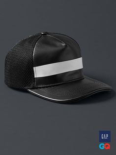4e7f4b93922 Gap + GQ STAMPD black leather hat - Forget color and logos. Instead