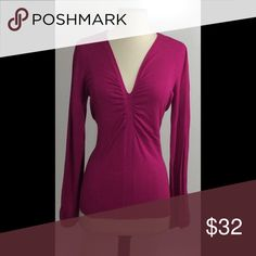 Raspberry Joseph A Sweater This is sweater is so adorable. It's a V-neck sweater and it hugs your figure in all the right places. Sweaters V-Necks