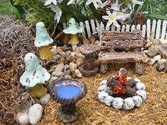 Miniature Fairy Outdoor Set Fairie Gnome Garden