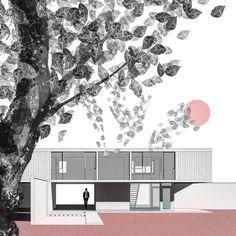 Interesting Find A Career In Architecture Ideas. Admirable Find A Career In Architecture Ideas. Wood Architecture, Architecture Drawings, Architecture Diagrams, Visualisation, Architecture Visualization, Photoshop, Photo Star, Passive Design, Architecture Presentation Board