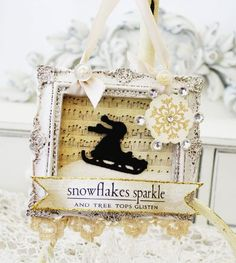 Love everything about this. Altered Art Christmas/Winter with a vintage flair.