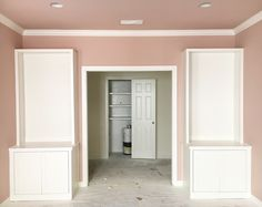 Love these built-in bookcases // Sherwin Williams Sashay Sand | The Style Scribe