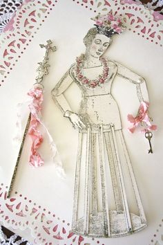 saint rose  a santos paper doll by ozmaofodds on Etsy, $18.00