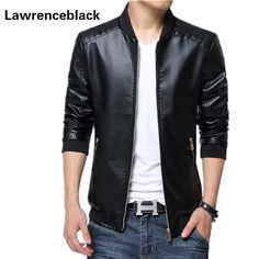 119c13ac33a Motorcycle Leather Jacket Men Jaqueta De Couro Solid Slim Fit Mens Leather  Jackets and Coats Luxury Brand Jaqueta Motoqueiro 20-in Faux Leather Coats  from ...