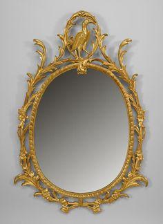 English Georgian mirror wall mirror gilt