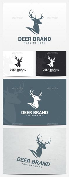 Deer Logo Template PSD, Transparent PNG, Vector EPS, AI Illustrator