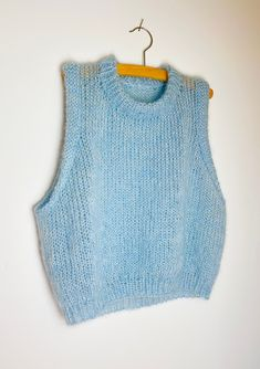 The Vest is knit top down in one piece in 3 strands of mohair. Vest Outfits, Cute Outfits, Fashion Outfits, Vintage Logo, Fluffy Sweater, Knit Vest, Knit Fashion, Fashion Fashion, Apparel Design