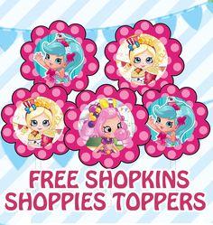 FREE Shopkins Shoppies Birthday Party Printables Fete Shopkins, Shopkins Bday, Happy Birthday, 9th Birthday Parties, Birthday Ideas, Shopkins And Shoppies, Party Printables, Free Printables, Party Ideas