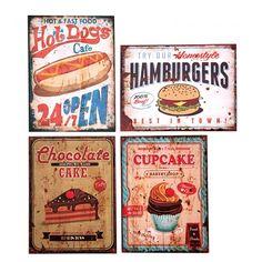 Quadro Fast Food ca.  30x40x2cm