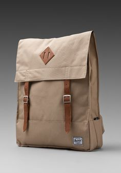 HERSCHEL SUPPLY CO. Survey Backpack in Taupe at Revolve Clothing - Free Shipping!