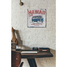 Cartello Targa Metallica da Parete Bianco Hawaii Coast Bus Retro Corridoio Camer | eBay
