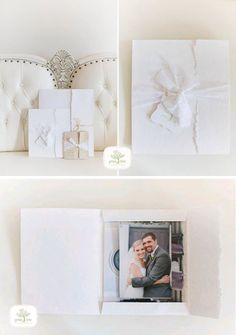 Green Tree Photography, Huntsville, AL - White Artisan Portrait Cases -Wedding Photography Packaging - Eco Friendly Packaging - Photo Packaging - Print Packaging - Packaging for Photographers - Rice Studio Supply