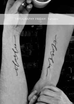 Meant for a Moment Designs: TYPOGRAPHY FRIDAY: Tattoo Typography