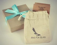 Five For Silver Bespoke Rubber Stamp Printed Onto Fabric Business Stamps Branding Your