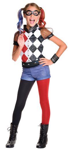 Deluxe Harley Quinn Girls Costume.