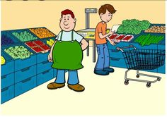 Bij de groentenboer praatplaat