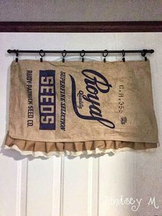 Curtains Made From Vintage Feed Sacks That Im Sewing For A