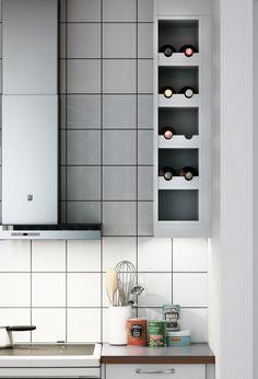 Marbodal Arkitekt plus ljusgrå closeup New Kitchen, Kitchen Dining, Kitchen Cabinets, Shelves, Interior, House, Inspiration, Home Decor, Bar