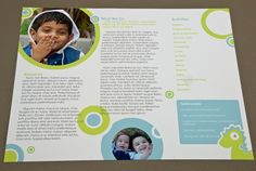 childrens daycare brochure template by ana guimaraes