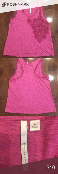 Lauren Conrad top M Embellished Lauren Conrad tank top. Size M. Excellent used condition - no stains, rips, tears, marks or holes. LC Lauren Conrad Tops Tank Tops