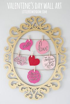 Make your own Valentine's Day Wall Art that is totally customizable and you can reuse it all year round!