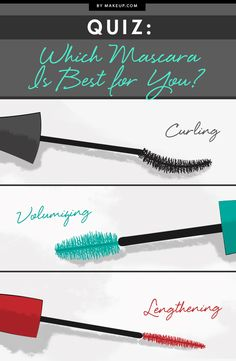 Finding the right mascara is hard, especially when there are SO manuy choices. This quiz will help you figure out which mascara is right for your lovely lashes, along with our product recommendations for each type of mascara.