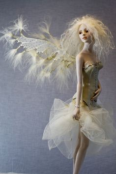 "*""INNOCENCE"" ~ Hannie Sarris Fairy Fantasy Sculptures"