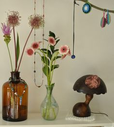 quirky vases and flowers!